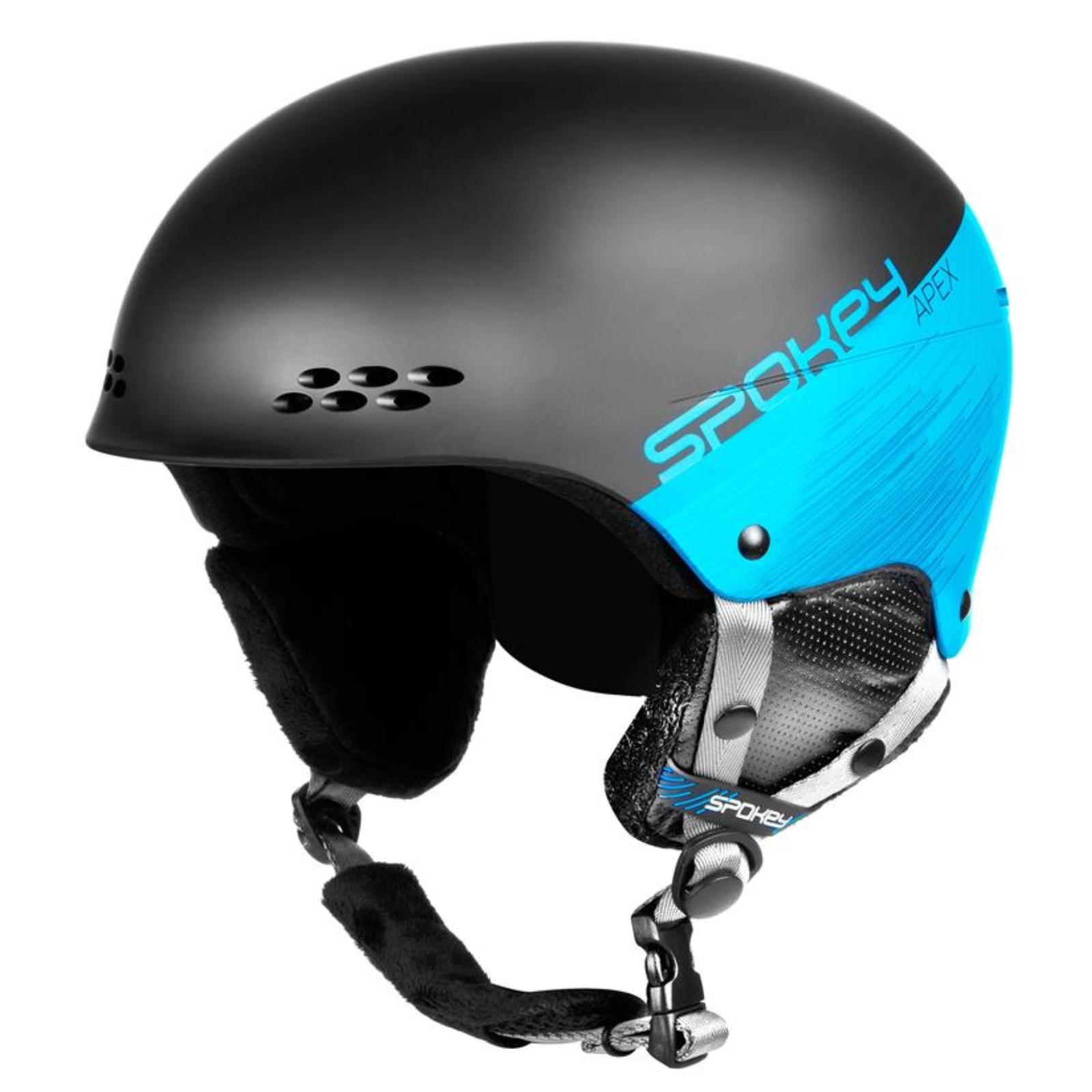 Lyžiarska prilba SPOKEY Apex čierno-tyrkysová - veľ. L-XL