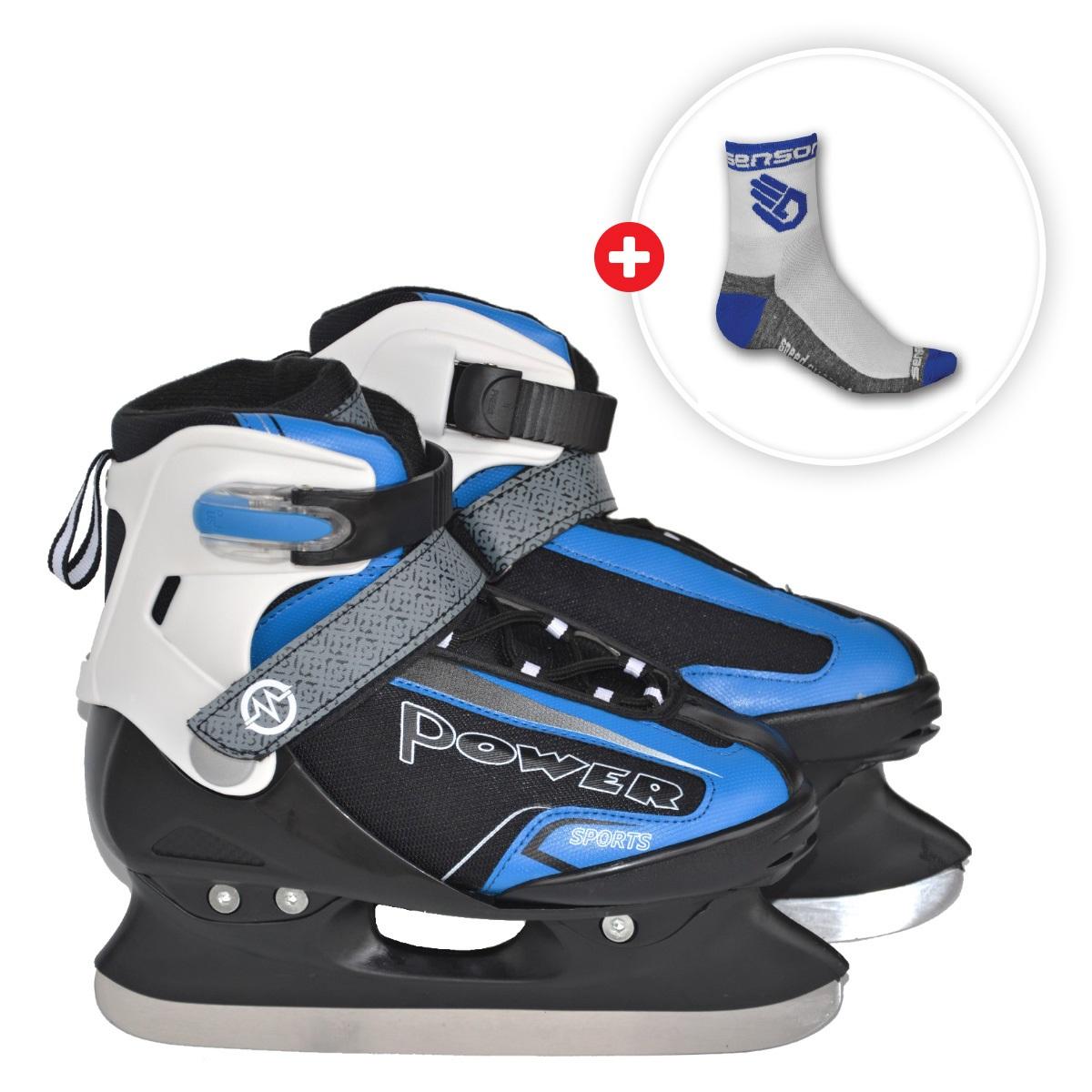 Akčný set - Korčule MASTER Maple 2v1 Blue 38-41 + ponožky Race Lite modré - veľ. 6-8