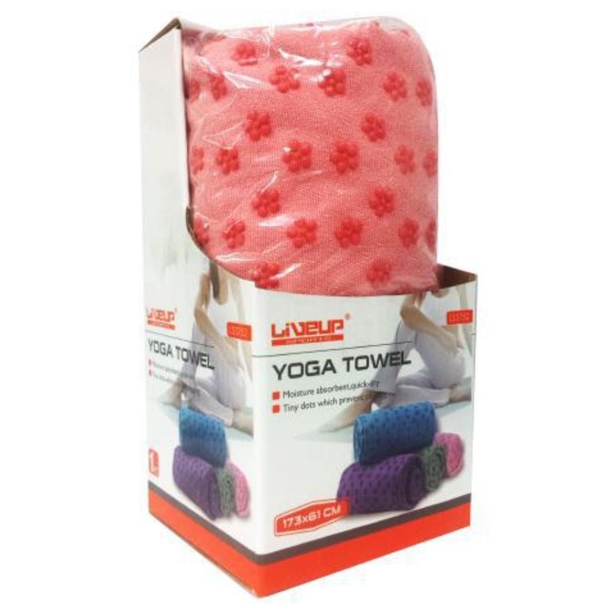 Uterák na yogu LIVEUP LS3752 - ružový