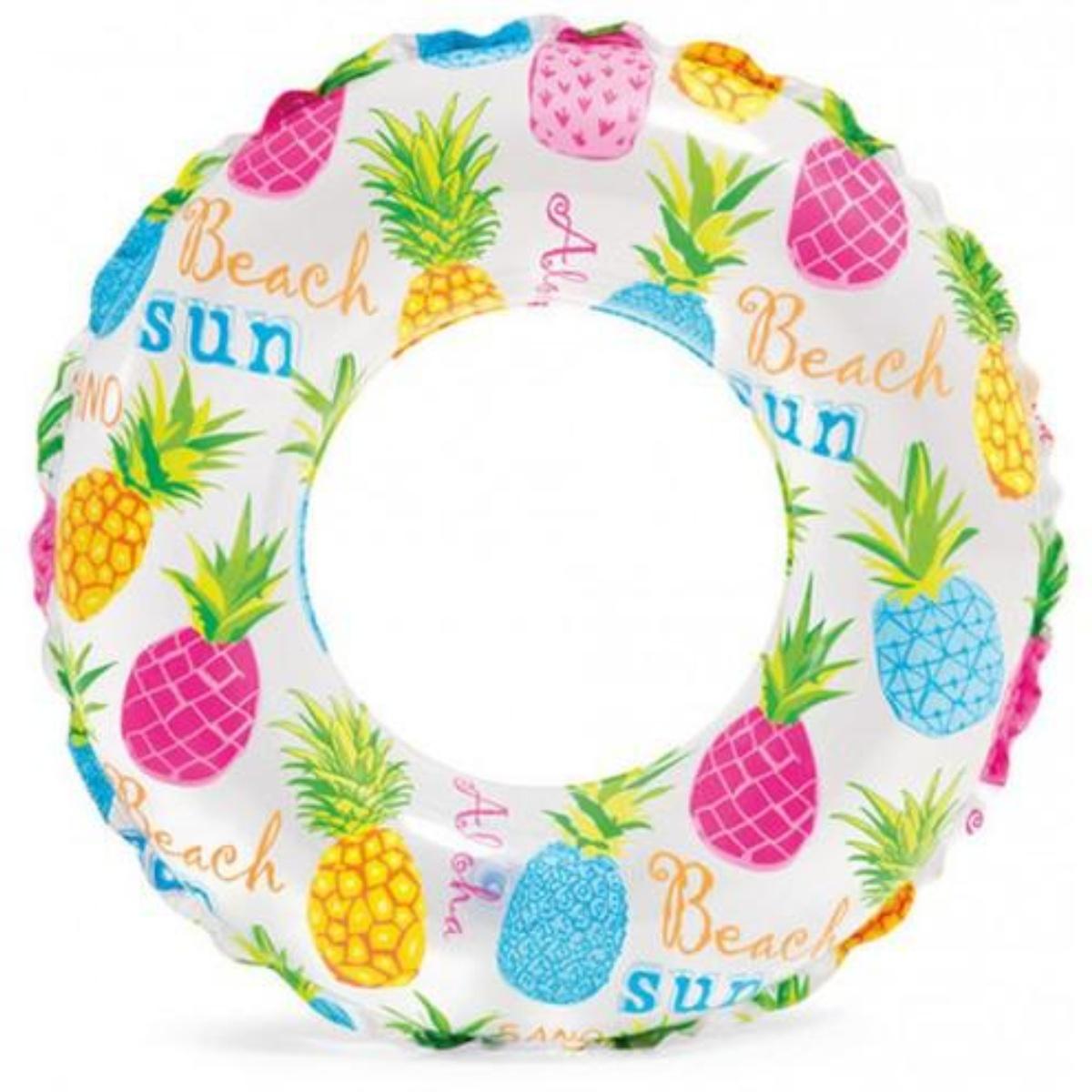 Nafukovací plavecký kruh INTEX Morský potlač 51 cm - ananas