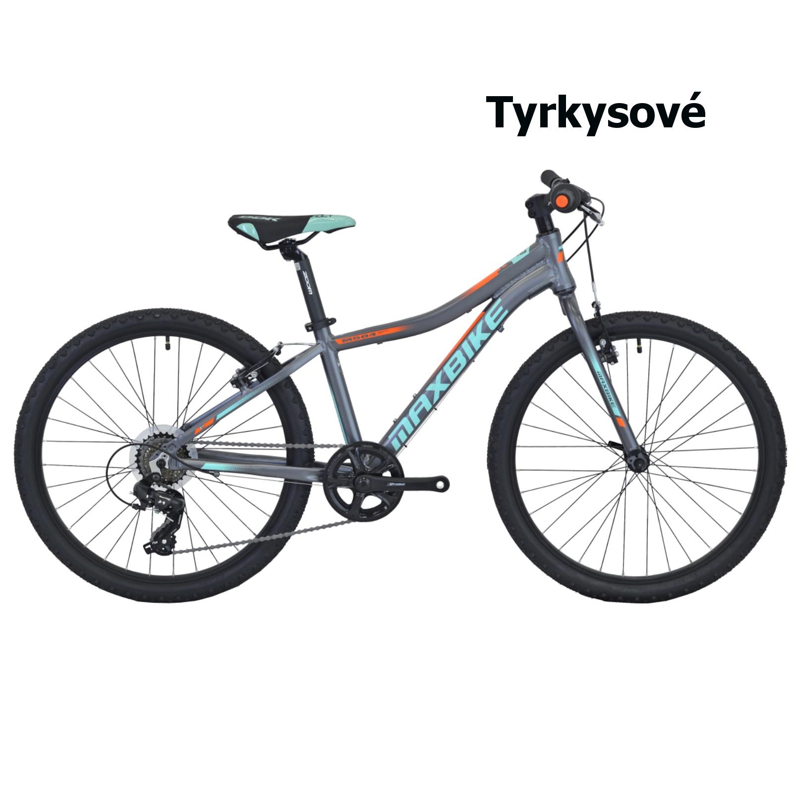 """Detský bicykel MAXBIKE Denali 24"""" - tyrkysový"""
