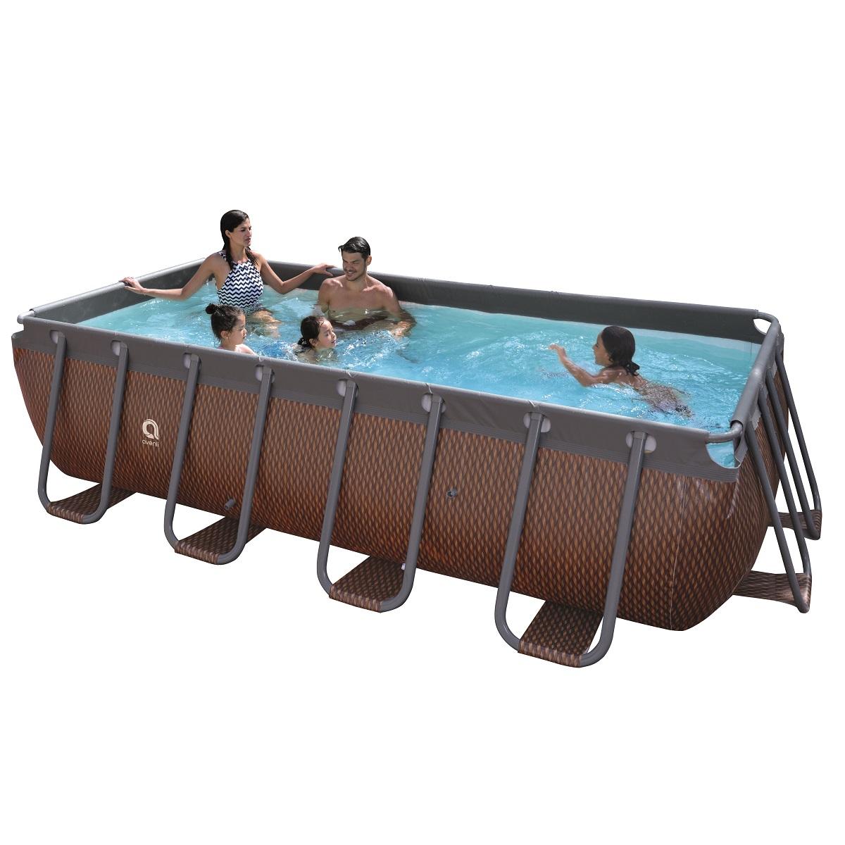 Bazén s pevnou stenou Passaat Grain 400 x 200 x 99 cm s kartušovou filtráciou