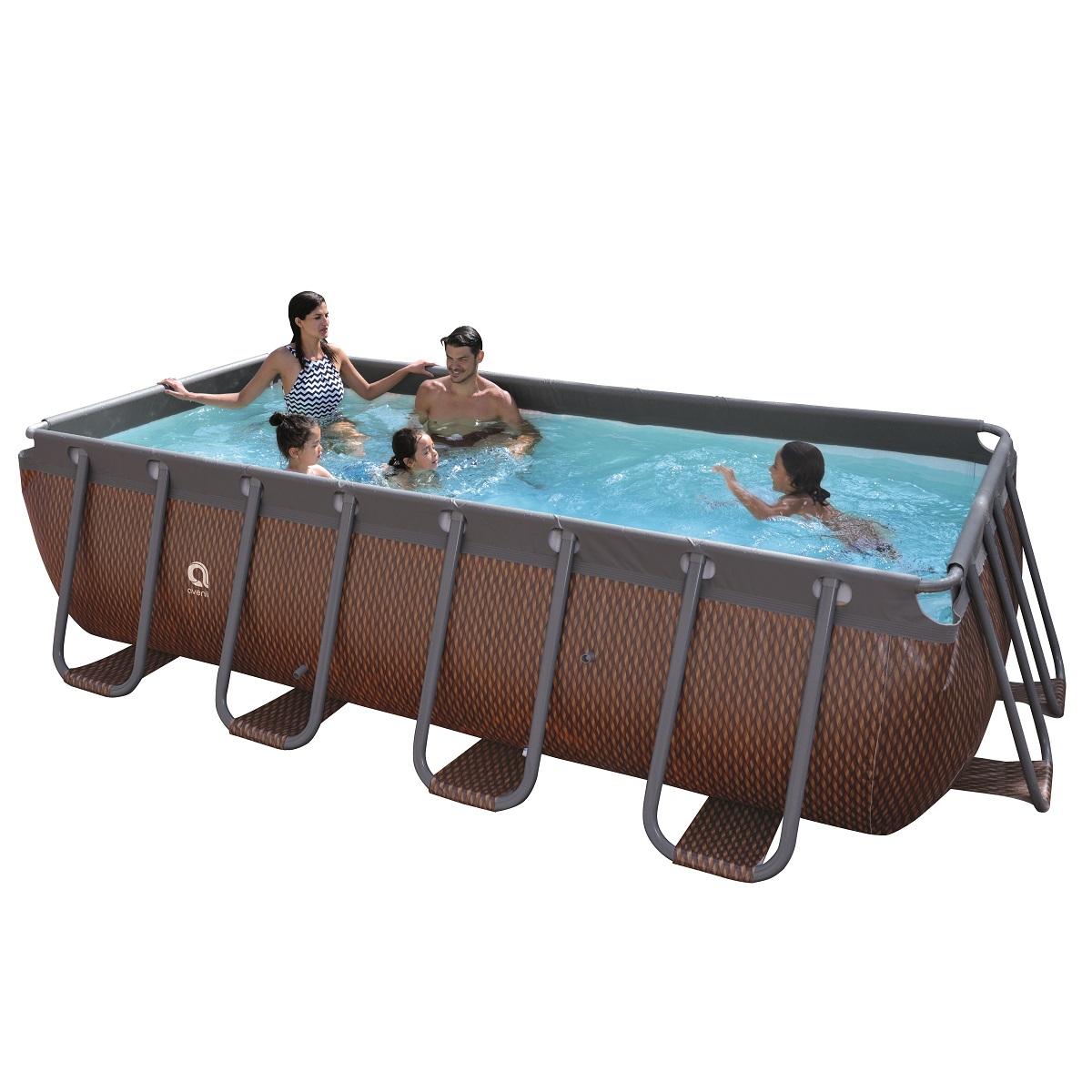 Bazén s pevnou stenou Passaat Rattan 400 x 200 x 99 cm s kartušovou filtráciou