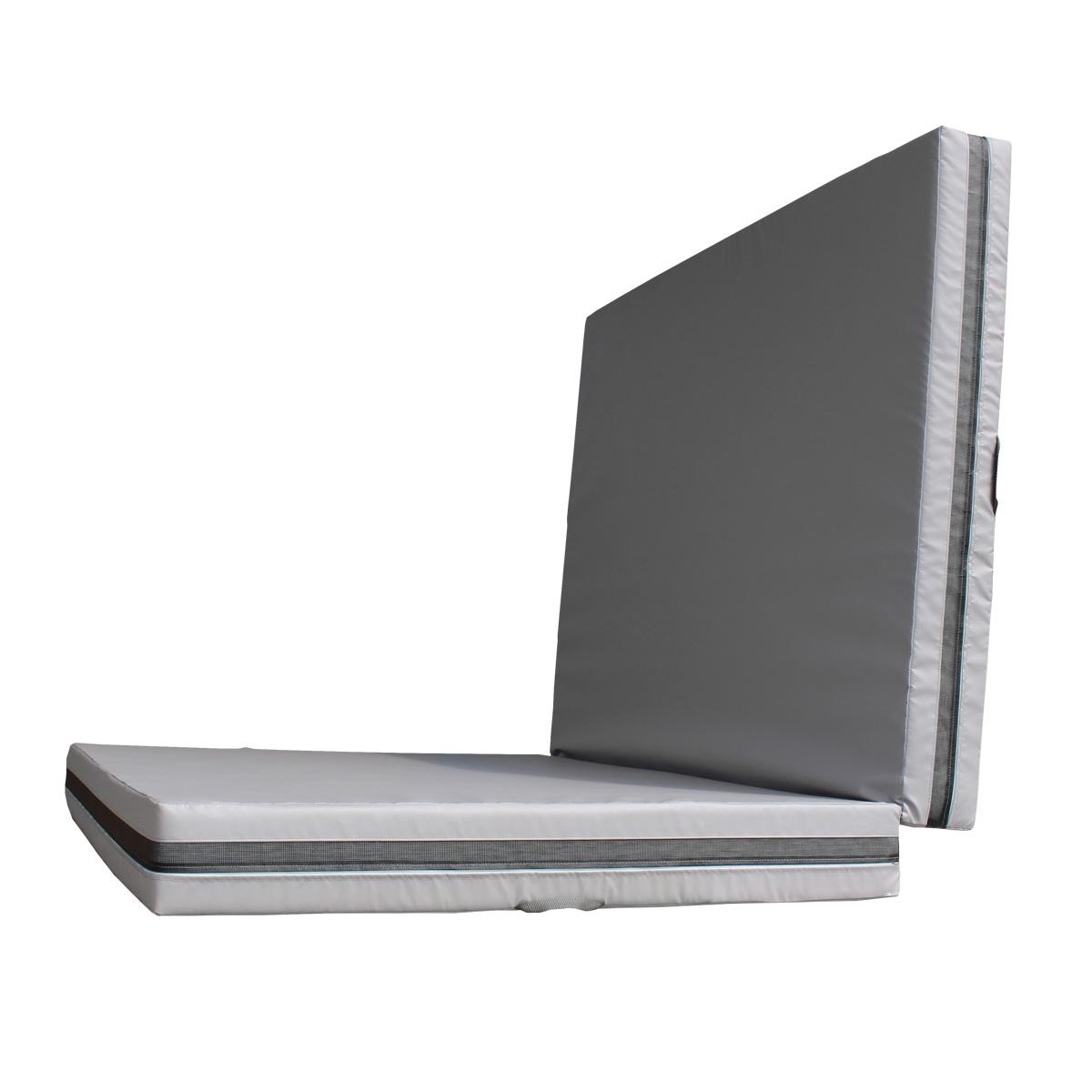 Dopadová skladacia žinenka MASTER T21 - 300 x 200 x 20 cm - sivá