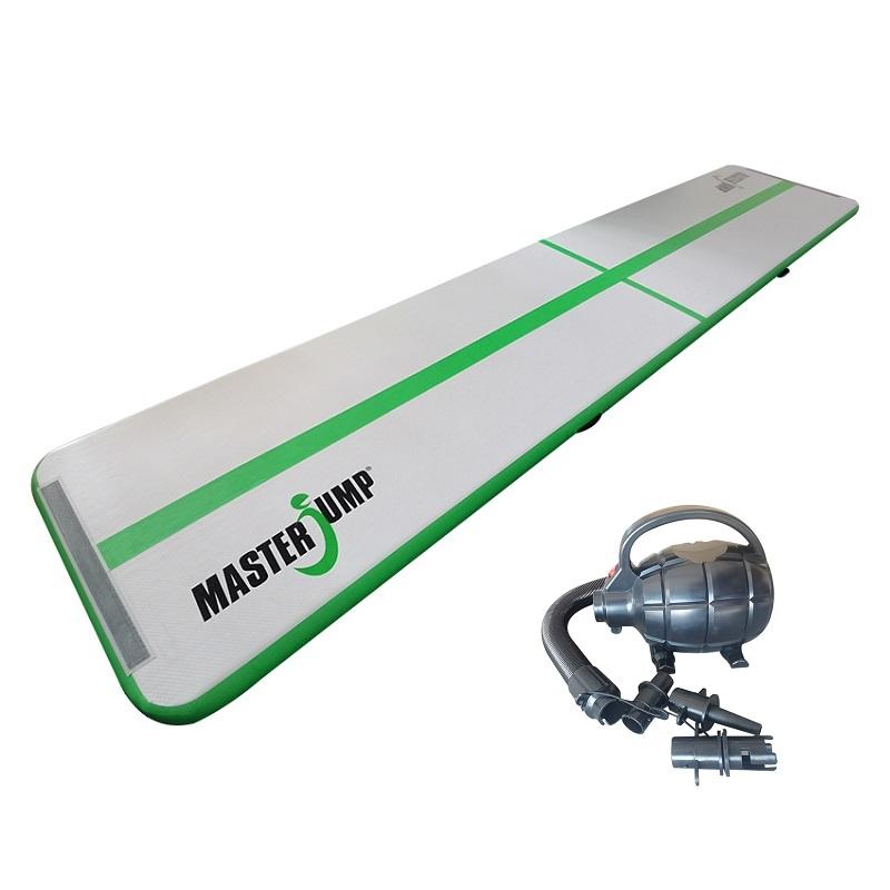Airtrack MASTER nafukovacia žinenka 500 x 100 x 10 cm - sivá - zelená