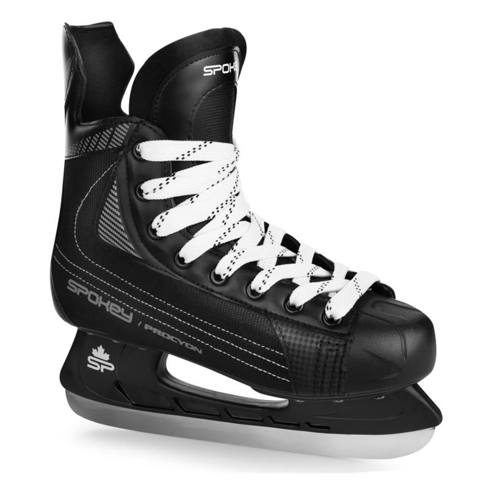 Hokejové korčule SPOKEY Procyjon čierne - veľ. 39