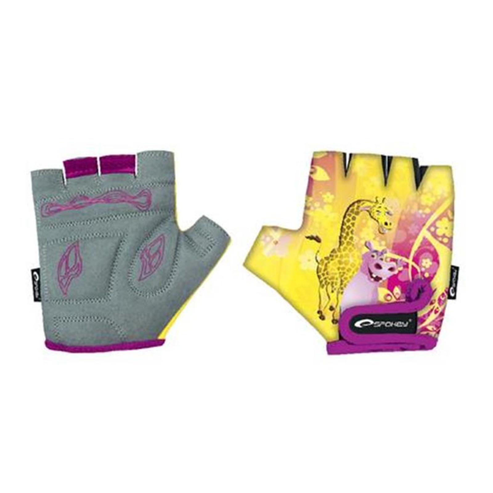 Detské cyklo rukavice SPOKEY Giraffe Glove - XXS