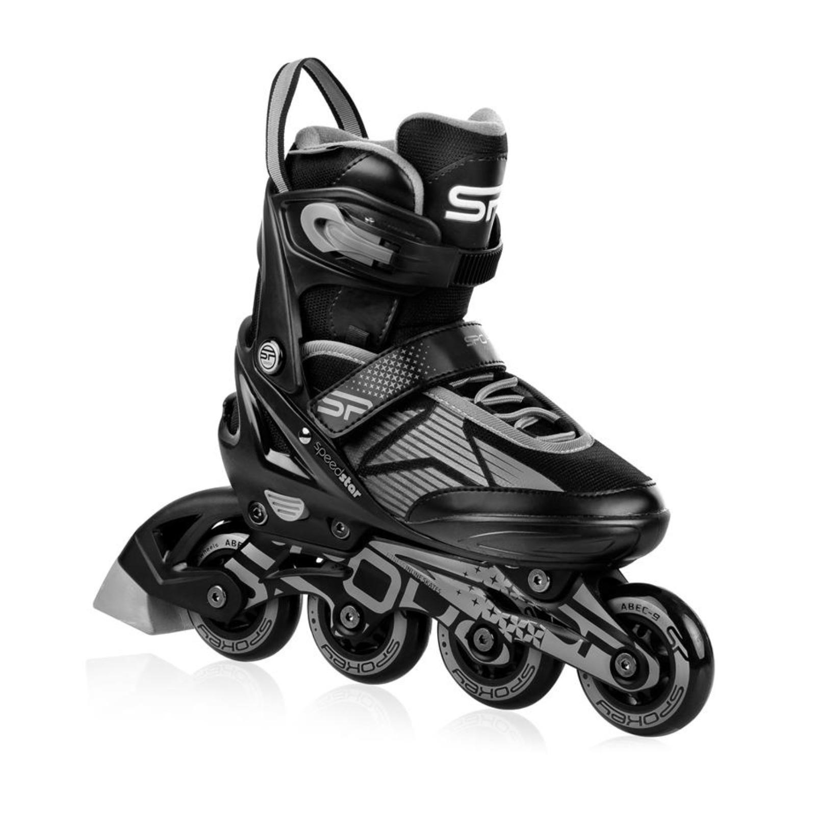 Kolieskové korčule SPOKEY Speed Pro čierno-sivé veľ. 40-41