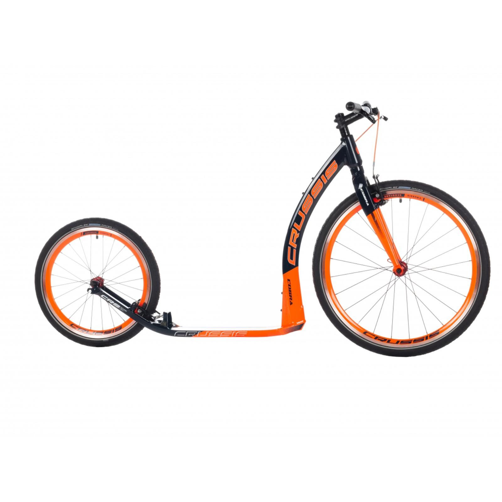 Kolobežka CRUSSIS Cobra 4.2 čierno-oranžová