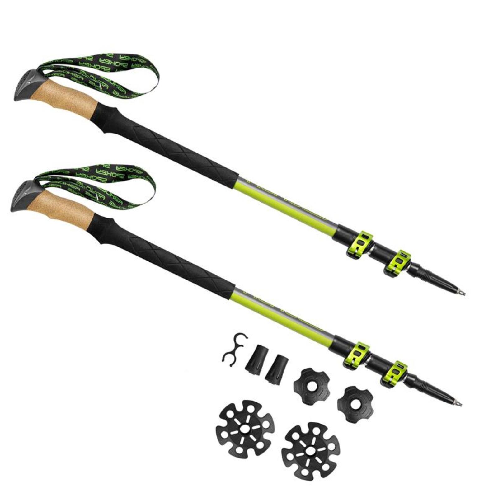 Trekingové palice SPOKEY Compass zeleno - strieborné