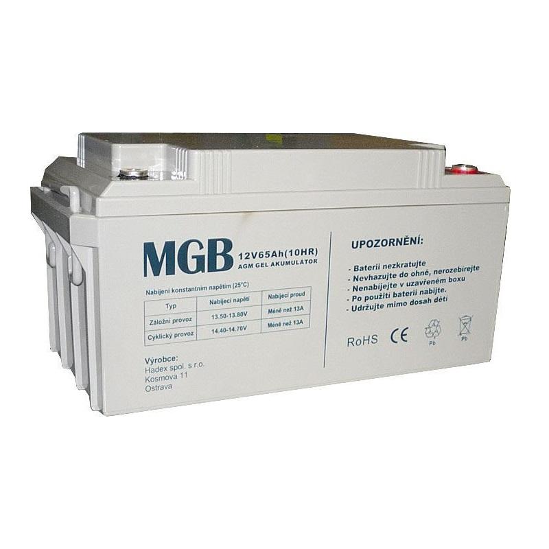 Trakční akumulátor MGB VRLA AGM 12V-65Ah