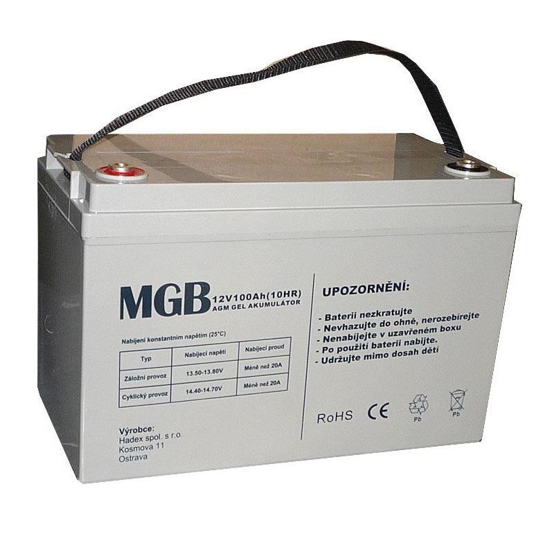 Trakční akumulátor MGB VRLA AGM 12V-100Ah