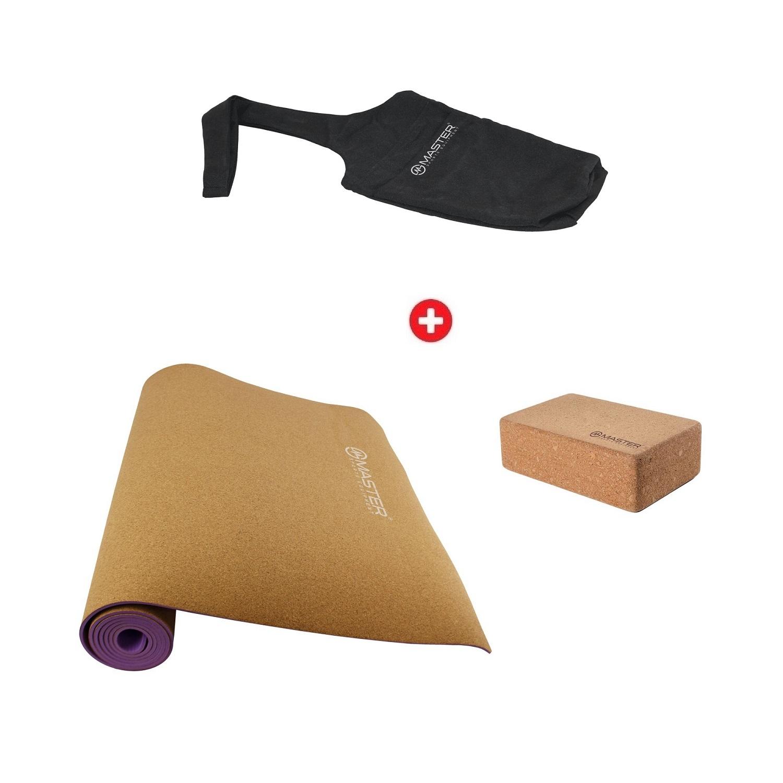 Akčný jóga set - podložka na jógu + blok + taška