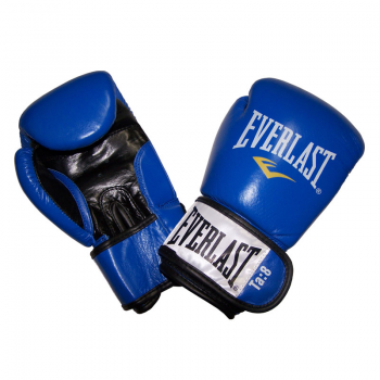 Rukavice kožené EVERLAST Fighter - modré