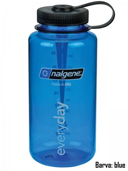 Fľaša NALGENE Wide Mouth 1 l - blue