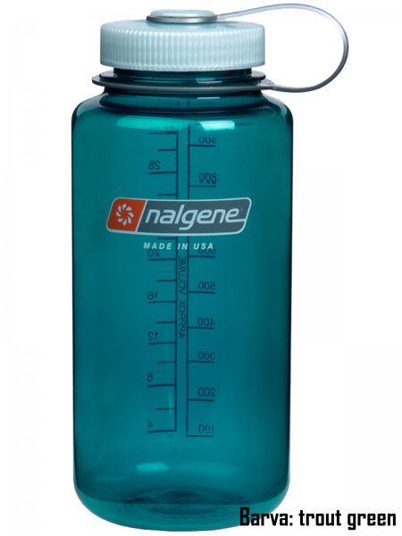 Fľaša NALGENE Wide Mouth 1 l - trout green