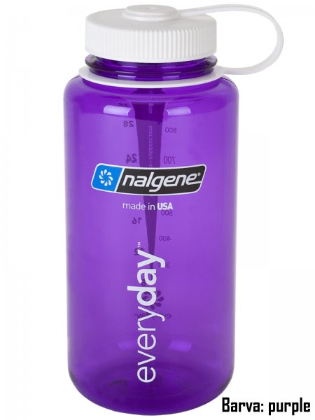 Fľaša NALGENE Wide Mouth 1 l - purple