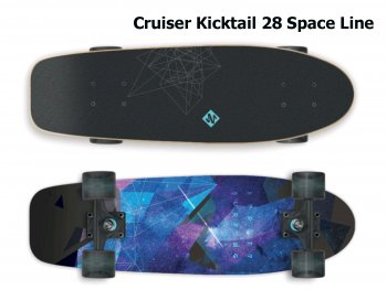 Skateboard STREET SURFING Cruiser Kicktail 28 Space Line