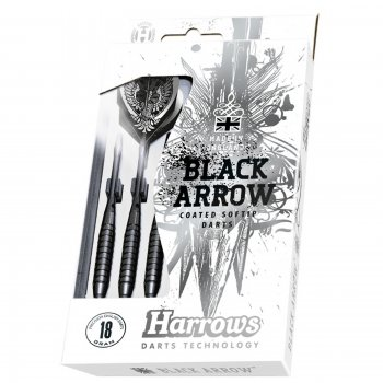 Šípky HARROWS Black Arrow softip 18g