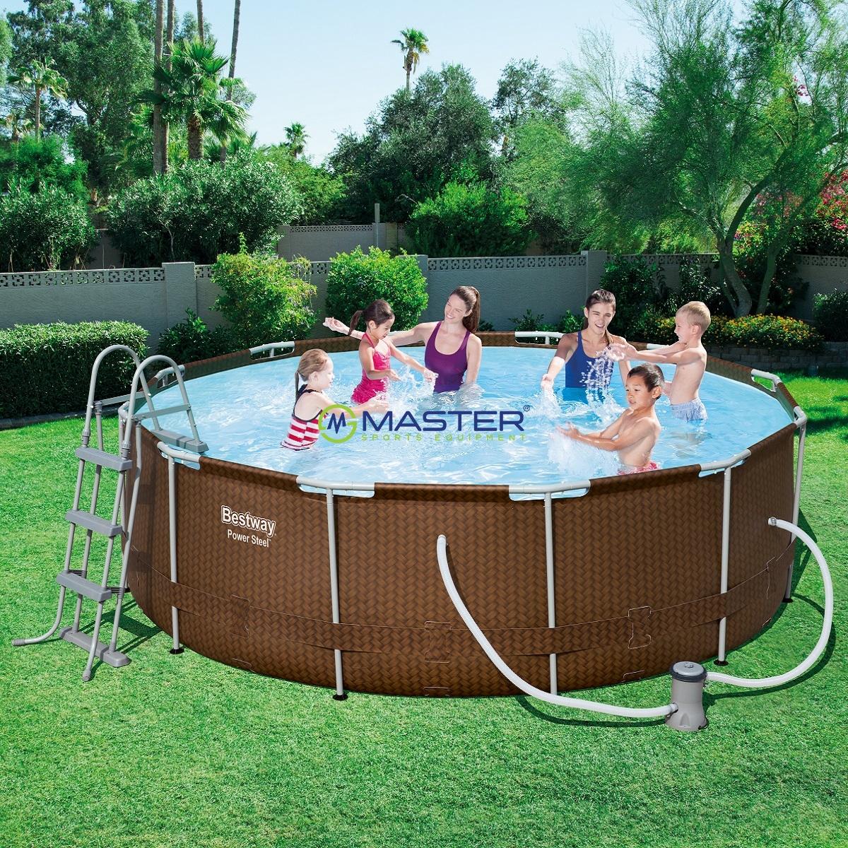 baz n steel frame pool 366 x 100 cm set s kartu ovou filtr ciou hned najlacnejsisport sk. Black Bedroom Furniture Sets. Home Design Ideas