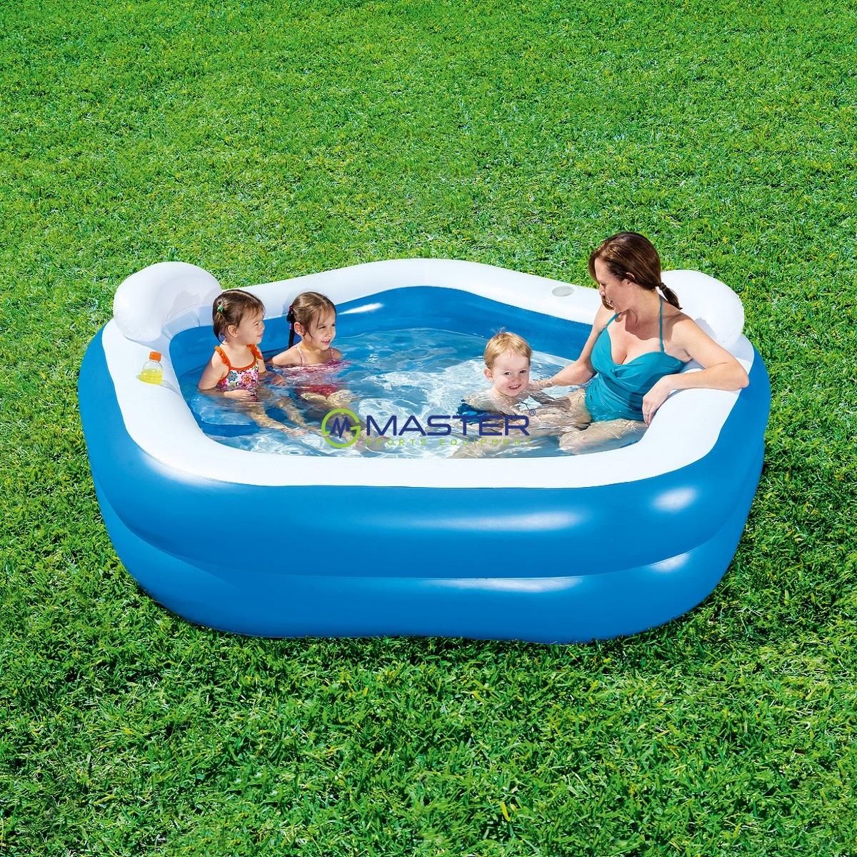 Nafukovac baz n bestway family fun najlacnejsisport sk for Pool aufblasbar eckig