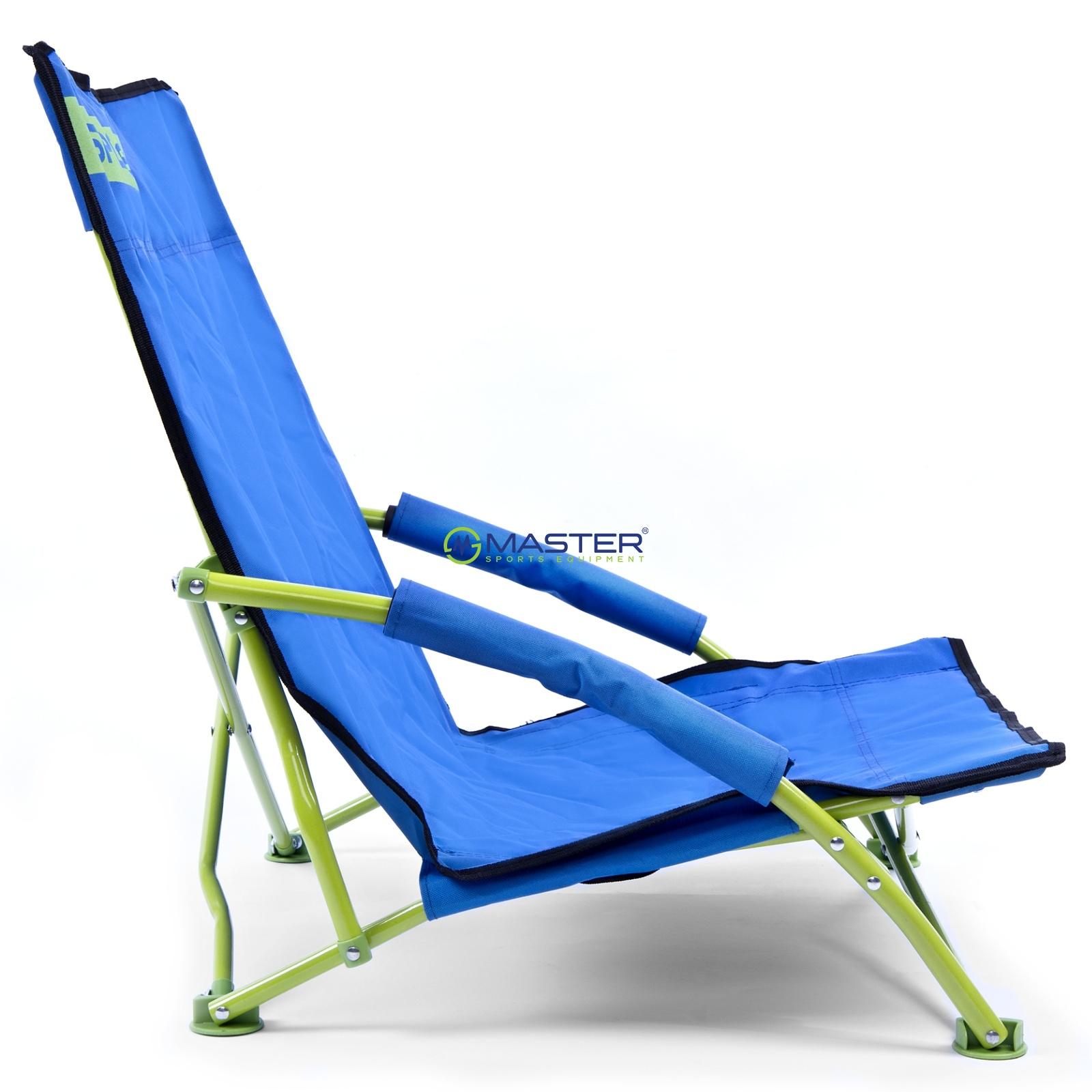 5cf25b9491c2 Skladacie plážové kreslo SPOKEY Panama tyrkysovo-limetkové ...