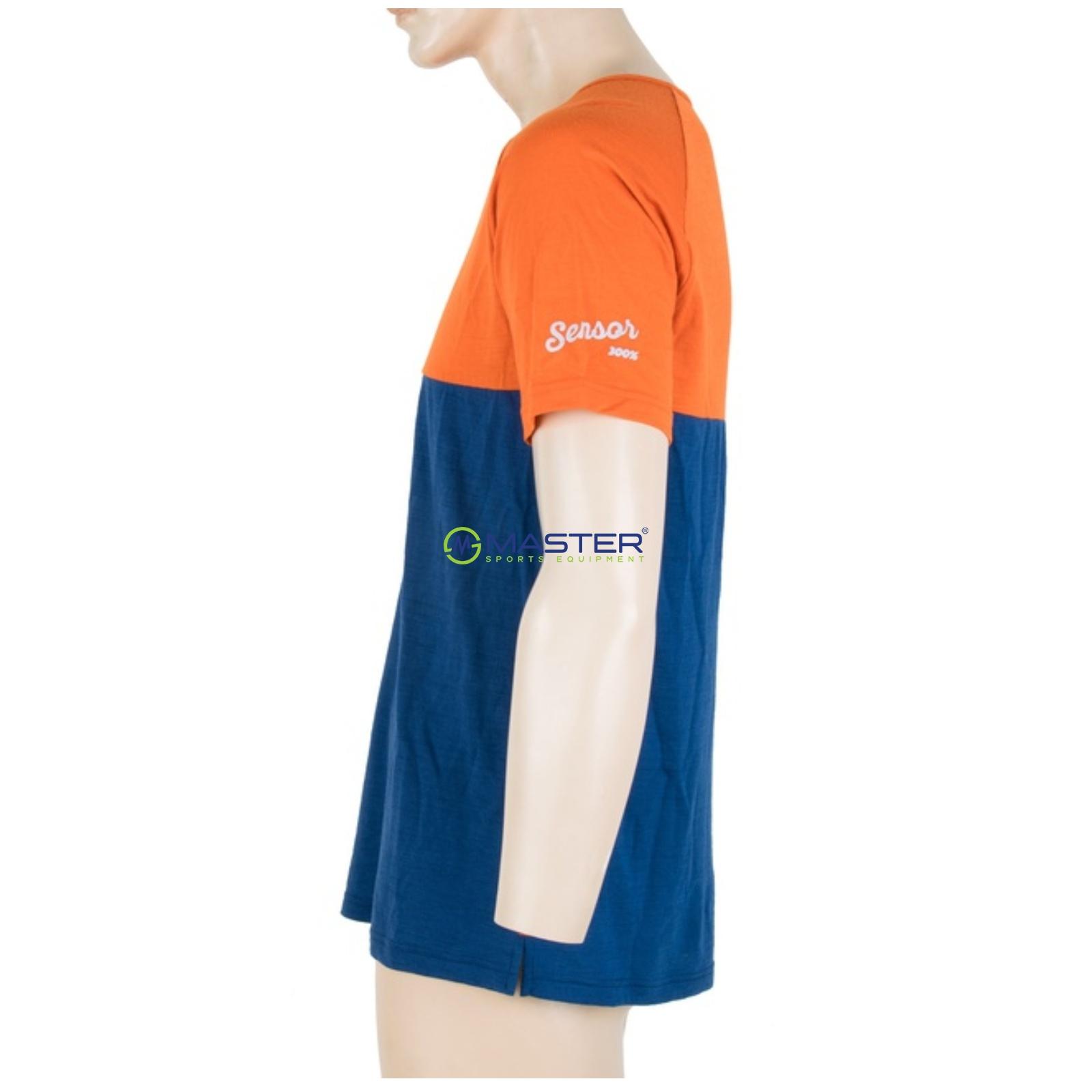 4129c4e37 Tričko krátky rukáv SENSOR Merino Air PT pánske oranžovo-modré. -27%